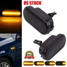 2x Dynamic Flowing LED Side Marker signal Light For VW Golf MK4 Jetta GTI R32