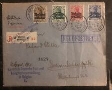 1915 Bruxelles Belgium  Germany Registered Feldpost cover to Berlin