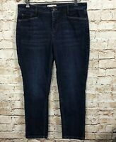 J. Jill Denim Jeans Slim Ankle Blue Smooth Fit Women's Size Petite 12