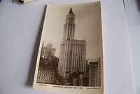 Rare Vintage RPPC Real Photo Postcard B1 New York Woolworth Building Rotary