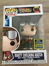 BACK TO THE FUTURE MARTY McFLY CHECKING WATCH 965 SDCC 2020 FUNKO POP! VINYL UK