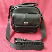 Camera Bag Case VIEW Brand Faux Leather Black Soft Body Adjustable Strap