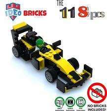 Lego F1 like Renault by lego MOC brick builder plans VideoPDF Instruction Manual