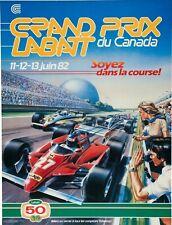 1982 Canadian Grand Prix Poster- Gilles Villeneuve - Ferrari  11x17 - Formula 1