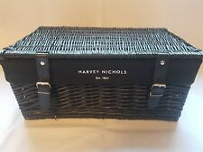 HARVEY NICHOLS Black Hamper Picnic Basket