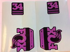 FOX Performance Series Fork 34 Purple / Pink Left & Right Decals Set 34mm