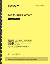 Sony Cyber-Shot DSC-HX80 Camera OWNER'S INSTRUCTION MANUAL