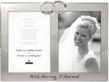 """Malden International Wedding """"With This Ring, I Thee Wed""""Photo Frame-5x7-NEW"""