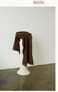 Baina Woodford Organic Cotton Bath / Pool Towel in Tabac! Brown, New!