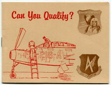 "Vintage AIR FORCE RESERVE Recruitment Booklet: ""Can You Qualify?"""
