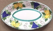 Vietri Pottery-23,3/4x14in. Oval sorrento Patt.Made/Painted by hand in Italy
