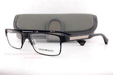 Brand New EMPORIO ARMANI Eyeglass Frames 1035 3094  Black Rubber for Men Size 53