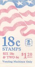 U.S. COMBO BOOKLET SCOTT#BK138 1981 18ct FLAG/PURPLE MOUNTAINS MINT P#1 AT FACE