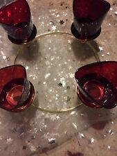 Partylite Adventskranz  Ständer Mit 4 Roten Gläsern sind nicht von Party Lite