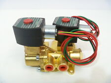 """1/4"""" ASCO Red Hat II EF 8344G044 4-Way 120/60 Solenoid Valve Green Tag  NEW"""