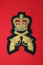 CANADIAN CANADA PISTOL MARKSMAN POLICE QUALIFICATION BADGE BULLION WIRE