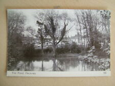 B&W Postcard - THE POND, FLECKNEY. Unused. Standard size.