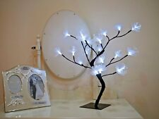 45cm Bright White Pre-Lit With 24 Fibre Optic Blossom Flower Christmas Tree 240v