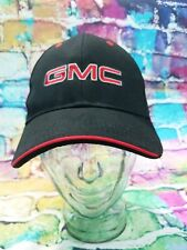 GMC Contrast Red Stitch Black Baseball Cap