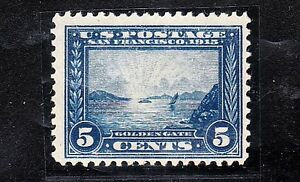 sc# 399.  5c,  blue.    Panama-Pacific.  Mint.  NH.