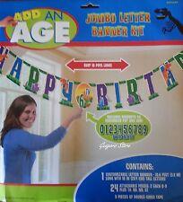 DINOSAUR PREHISTORIC ADD ANY AGE JUMBO LETTER BIRTHDAY BANNER KIT PARTY SUPPLIES