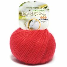 Adriafil Carezza Angora Aran Yarn / Wool 25g - Red (17)