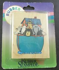 NOAH'S ARK Rubber Stampede Mounted Rubber Stamp 490-E New NIP Sealed