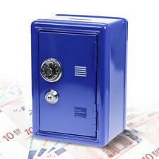 Salvadanaio Blu Elettrico, Mini Cassaforte con Lucchetto a Combinazione e Chiave