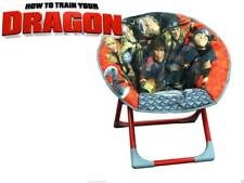 Official - How To Train Your Dragon 2 Folding Padded Moon Kids Bedroom Red Chair