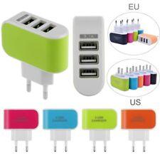 EU Enchufe 3,1A Triple Puerto USB Pared Viaje Hogar AC Adaptador De Cargador