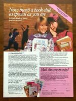 1986 Especially For Girls Book Club Vintage Print Ad/Poster 80s Pop Art Decor