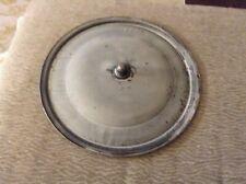 "Vintage Gray Graniteware Stock Pot Lid Enamelware 12"" Knob Handle"