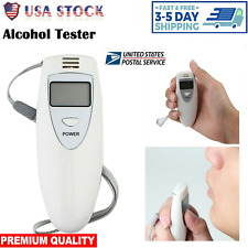 New Digital Lcd Alcohol Tester Breath Analyzer Breathalyzer Police Accurate Safe