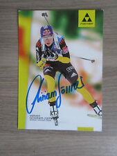 Miriam Gössner original handsignierte Autogrammkarte Biathlon