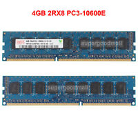 For Hynix 4GB 2RX8 PC3-10600E DDR3-1333MHz 1.5V ECC Unbuffered DIMM Memory RAM