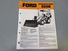 Ford 555B Backhoes Brochure                  lw