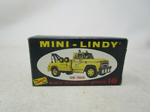 Vintage 1968 The Lindberg Line MINI-LINDY BOX  *TOW TRUCK* #16  (BOX ONLY)