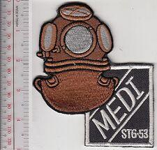 SCUBA Hard Hat Diving East Germany DDR Medi 3 Bolts Helmet STG-53 char blacl