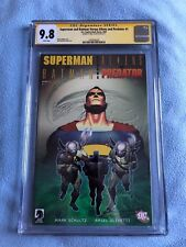 Superman and Batman Versus Aliens and Predator #1 CGC SS 9.8 Signed by Olivetti