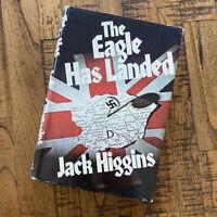 THE EAGLE HAS LANDED by JACK HIGGINS (1975) HC DJ 1st Edition 062