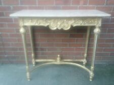 LARGE GILTWOOD MARBLE TOPPED CONSOLE TABLE