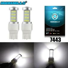2x  White LED 7443 5730 92SMD High Power 33W Turn Signal Reverse Light Bulbs