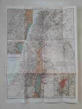 "188? * RARE ANTIQUE  * OLD PALESTINE MAP  15.5"" x 21"" * LEIPZIG GERMANY * GERMAN"