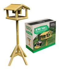 DELUXE WOODEN BIRD TABLE WITH BUILT IN FEDER FREE STANDING FEDING STATION 009BF