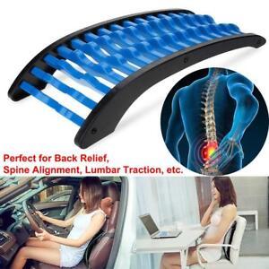 AU SHIP Back Massage  Stretcher Fitness Relax Lumbar Support Chiropracti