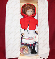"""14"""" Dianna Effner's Little Red Riding Hood Fairy Tale Doll,By Knowles 1988,MIB"""