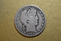 1902 P  Barber Half Dollar   Good  Free Shipping