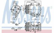 NISSENS Compresseur de climatisation pour HONDA CR-V ACCORD 890128 - Mister Auto