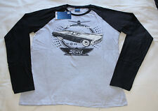 Ford Mens 1955 Thunderbird Grey Black Printed Long Sleeve T Shirt Size S