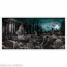Gotica Halloween vicolo cieco Cimitero Cimitero partito muro POSTER STRISCIONE Decorazione